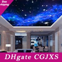 Wholesale stars wallpaper resale online - Interior Ceiling d Milky Way Stars Wall Covering Custom Photo Mural Wallpaper Living Room Bedroom Sofa Background Wall Covering