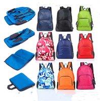Wholesale nylon folding backpacks for sale - Group buy Solid Folding Backpack Ultra Light Shoulder Bag Foldable Travel Hiking Camping Rucksack Folded Totes Portable Sport Gym Storage Bag E81902