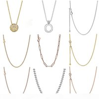 Wholesale silver plated curb chain resale online - FAHMI Sterling Silver Autumn Preview Shine Curb Chain Necklace Rose Long Link Cable Chain Necklace Oak Leaf Crown