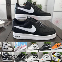 euro neue  groihandel-Sale 2019 New Design Forces Men Low Skateboard Shoes Cheap One Unisex 1 Knit Euro Air High Women All White Black Red Sise JH3UK