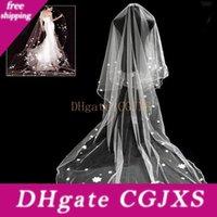 Wholesale muslim mantilla veil for sale - Group buy New In Stock Wedding Bridal Veills White Wedding Cathedral Long Bridal Mantilla Veil For Bride Custom Made