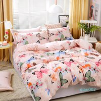 Wholesale butterfly bedding sets for sale - Group buy Pink Bedding Set High Quality Butterfly flower Bed Linings Adult Child Kid Duvet Cover Pillowcases Bed Cover Set set