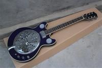 Wholesale dobro guitar resale online - High Quality maestro Dobro Resonator Purple Electric Guitar In stock