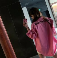 Wholesale f2 resale online - 2020 Fashion loose Long sleeved Goddess shirt chiffon shirt sun protective x6x1clothing women tops blouse f2