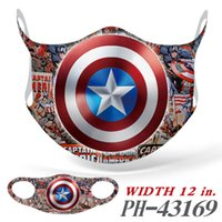 wunder superhelden groihandel-Marvel Superhelden peripheren Druckmaske Superman Iron Man voller Farbe nahtlos Ice Silk Staubmaske