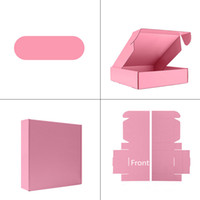 Wholesale matt brown for sale - Group buy 123Custom Logo Design Corrugated Mailing Packaging Plain White Black Pink Brown Gray Shipping Carton Boxes In Stock