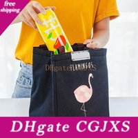 Wholesale cool lunch bags for sale - Group buy Flamingo Thermal Bag Waterproof Oxford Beach Lunch Box Food Travel Cooler Bag Styles Cartoon Animal Picnic Pouch Storage Bags Bh1770 Zx