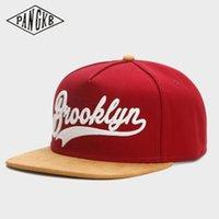 Wholesale suede caps resale online - CAP faux suede hip hop red snapback hat for men women adult casual sun baseball cap bone