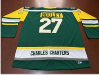 Wholesale Custom Men Youth women Vintage CHARLES CHARTERS Logan Boulet Humboldt Broncos Hockey Jersey Size S XL or custom any name or number