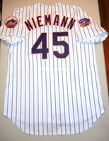 Wholesale new york embroidery resale online - Cheap Retro Top NEW New RANDY NIEMANN NEW YORK JR Patch Jersey Piazza L Mens Stitched Baseball jerseys