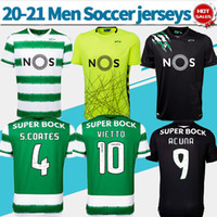 Wholesale customized sports jerseys for sale - Group buy Sporting Clube de Portugal soccer jersey Lisbon home green soccer shirt PHELLYPE away black customized Football uniforms