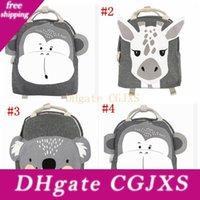 Wholesale baby cute handbag resale online - Ins Cartoon Animal Shoulders Backpacks Baby Cute Toy Storage Bag Boys Girls Handbags Children School Bags Mma3204