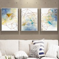 Wholesale art galleries paintings resale online - Abstract Geometric Line Wall Art Canvas Painting Pictures Posters and Prints Gallery for Living Room Home Decor
