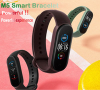 Wholesale yellow android phone for sale – best M5 Smart watch Real Heart Rate Blood Pressure Wristbands Sport Smartwatch Monitor Health Fitness Tracker smart Watch Smart Call Bracelet