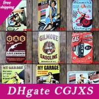 Wholesale holiday auto for sale - Group buy Hot Best Garage For Motorcycle Auto Batteries Fixing Vintage Craft Tin Sign Retro Metal Poster Bar Pub Signs Wall Art Sticker