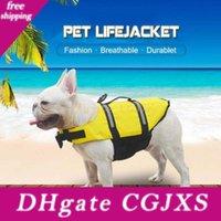 Wholesale terrier dogs resale online - New Design Pet Small Dog Clothes Summer Safety Vests Reflective Dog Shirt Yorkshire Terrier Tshirt Dog Life Jacke Raincoat Xxs Xxl