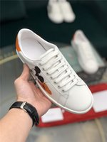Wholesale mouse flats for sale - Group buy Luxury designers GG M ckey Mouse canvas shoes Embroidery Shoes Flat Sneaker Sports Trainers Genuine Leather men women Shoes