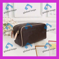 Wholesale ladies pu belts for sale - Group buy Women cosmetic bags famous makeup bag travel pouch make up bag ladies purses toiletry bag Japanese and Korean small fresh