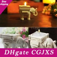 Wholesale white elephant gifts for sale - Group buy Lucky Elephant Candles Holder Tea Light Candles Holder Wedding Birthday Gifts With Tea Light Party Favor St142