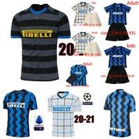 Wholesale soccer tops inter milan for sale - Group buy 20 ERIKSEN LUKAKU LAUTARO Inter home away Milan soccer jersey BARELLA football top shirt Men Kids Kits sets uniform