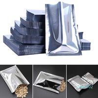 Wholesale heat sealable fabrics resale online - 100pcs Antistatic Aluminum Storage Bag Kitchen Accessories Sealed Bags Moisture Proof Resealable Heat Sealable Bag