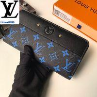 Wholesale leather zip wallet men resale online - liruoxi7899 YVFS M67234 Zip wallet MEN REAL LEATHER LONG WALLET CHAIN WALLETS COMPACT PURSE CLUTCHES EVENING KEY CARD HOLDERS