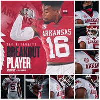 Wholesale 2020 Arkansas SEC Rakeem Boyd Feleipe Franks Treylon Burks Treylon Burks Trelon Smith Khari Johnson NCAA College Football Jersey