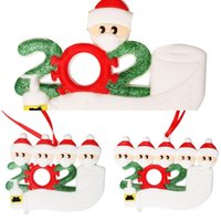 Wholesale flat christmas ornaments for sale - Group buy oCmSl Name Blessings Snowman Christmas Tree Hanging design face Mask New Christmas Decorations Santa Claus Ornaments flat Pendant w