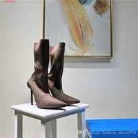 Wholesale green stiletto boots for sale - Group buy Womens multi color selection of toe tip soft short boots sexy and fashionable slim high heel medium boots With original box