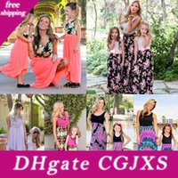Wholesale dress for women daughter resale online - Summer Dress Mommy And Me Family Matching Dress Mother Daughter Floral Sundress For Kid Women