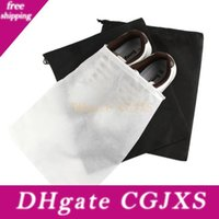 Wholesale drawstring shoe storage bags for sale - Group buy Storage Bag Non Woven Reusable Shoe Cover With Drawstring Case Breathable Dust Proof Sundries Package Home Tool Lx1856