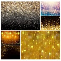 Wholesale backdrops for photography resale online - Golden Gradient Sand Glitter Christmas Photo Backgrounds Prom Photography Backdrops for Children Baby Family Party Photobooth