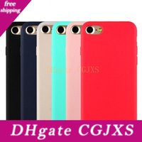 Wholesale iphone 5c free phone online – custom Free Dhl Candy Colors Soft Tpu Silicon Phone Cases For Iphone plus s s Se c plus splus I7 I6 Plus I6s I5
