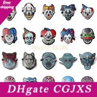 Wholesale skull control resale online - New Halloween Cosplay El Mask Led Sound Control Creative Cold Light Masquerade Portable Flexible With Many Style Masks