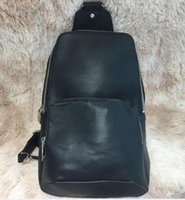 Wholesale leather sling bag black for sale - Group buy 2020 Real Leather men sling bag cross body messenger bags Black outdoor Top Quality waist bag pack chest bag