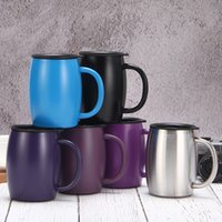 Wholesale hot cup coffee resale online - Amazon Hot Selling oz Coffee Mug Insulated Vacuum Flasks Thermos Double Wall Belly Cup Tumbler With Handle Lid