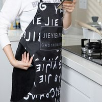 Erasable Hand Waterproof Oil-proof Cooking Apron Baking Accessories Hooded Sleeveless Kitchen Apron for Women Hang Neck Overalls