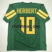 Wholesale oregon ducks shorts resale online - cheap custom USTIN HERBERT Oregon Ducks Green College Football Jersey Customized Any name number Stitched Jersey XS XL