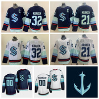 Wholesale team hockey for sale - Group buy Custom Seattle Kraken Jersey Womens Kraken Kraken Jersey Season New Team Cheap Blue White Blank Ice Hockey Jerseys Stitched