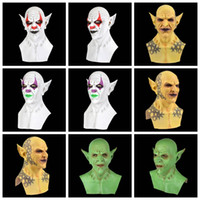 Wholesale horror demon mask for sale - Group buy Halloween Scary Ghost Devil Mask Realistic Appearance Demon Latex Mask Adults Party Costume Helmet Headgear Horriable Cosplay Props VT1495