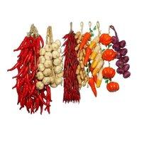 Wholesale fruit chinese resale online - Simulation Foam Decorative Fruit String Vegetables Bunch Onion Corn Garlic Red Pepper Cluster Kitchen Decoration Agricola ns C2