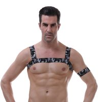 Wholesale man lingerie club for sale - Group buy Sexy Body Harness Chest belt Lingerie Men Elastic Straps Bondage Costumes Man Night Club Performance Costume gay bar clothing