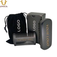 Wholesale velvet brush for sale - Group buy MOQ Amazon Hot Sale Black Beard Kit Custom LOGO Beard Care Set Beard Combs Brush Gift Box Velvet Bag with LOGOs