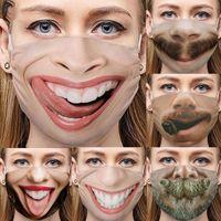 Wholesale expressions fashion for sale - Group buy Wacky Designer face masks Individual expression strange foreign trade masks cross border dustproof cotton fashion face mask