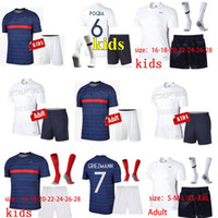 Wholesale soccer jersey france for sale - Group buy 2020 FFF France star soccer jersey mbappe GIROUD GRIEZMANN KANTE Franc ZIDANE HENRY maillot de foot Kids Kits Socks