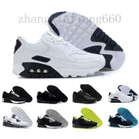 Mens Shoes classic 90 Men and woman Shoes Black Red White Trainer Air Cushion Surface Breathable Casual Shoes 36-45 D74E