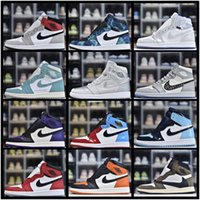 Wholesale AIR Snakeskin Jordan Retro Offwhites Travis Scotts AJ Obsidian UNC Mens Shoes Turbo Green s Chicago Banned Basketball Sneakers