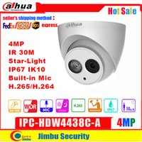 Wholesale dahua 4mp for sale - Group buy Dahua MP IP Camera IPC HDW4438C A Star light IR30M H H Full HD Built in MIC CCTV Network Camera WDR Mulli language IVS