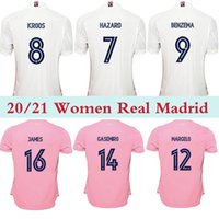 Wholesale bale resale online - WOMEN REAL MADRID ASENSIO BENZEMA BALE JAMES SERGIO RAMOS BENZEMA CAMISETAS FHAZARD soccer jersey thailand quality football shirts