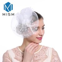 Wholesale wedding veil ornaments for sale - Group buy M MISM New Arrival Hot Sale Women Hair Accessories Wedding Bride Fascinator Hair Clips Elegant Mesh Veil Ornaments Headwear